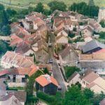 Ancienne vue aérienne de Lassy dans le Val d'Oise